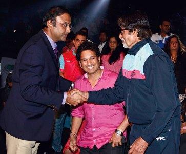 Charu Sharma, Sachin Tendulkar, Amitabh Bachchan