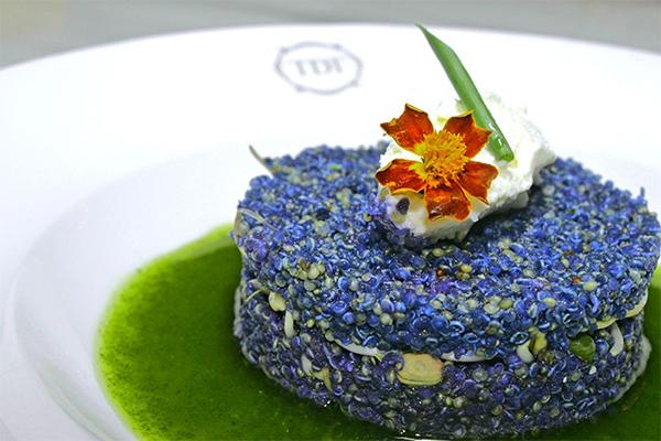 Quinoa Blue Plea Flower Salad