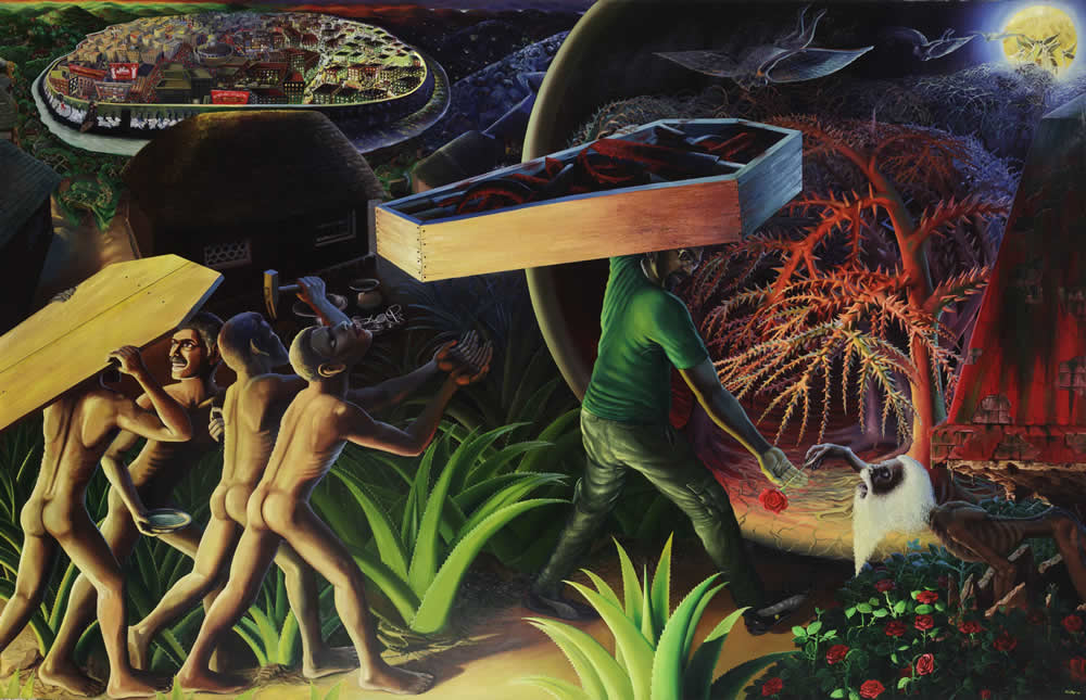 RATHEESH T, 0, oil on canvas, 198.1 x 305 cm - 78 x 120 in