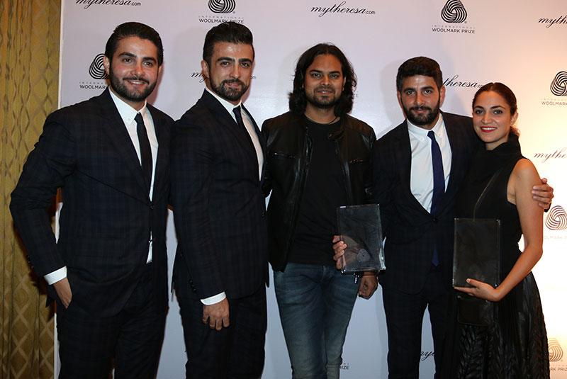 Rahul Mishra with the winning designers