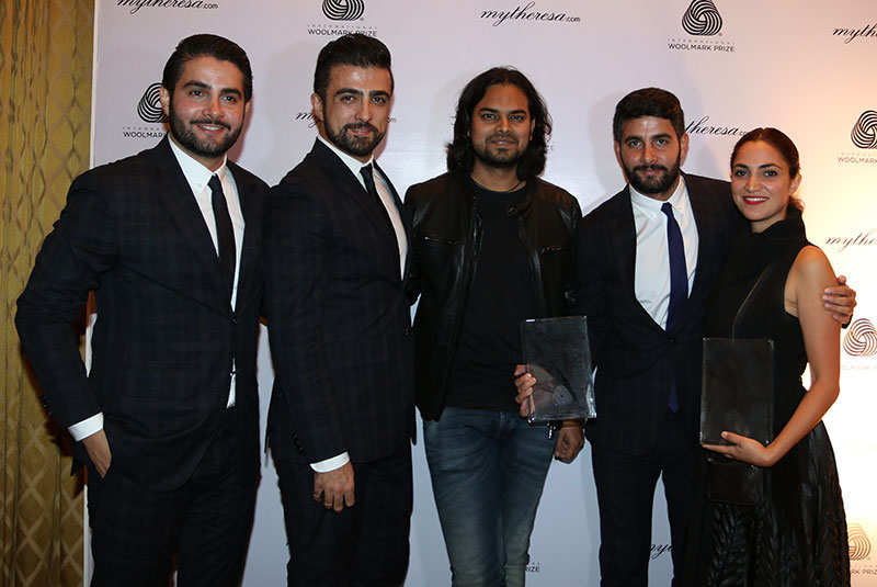 Rahul Mishra with the winning designers