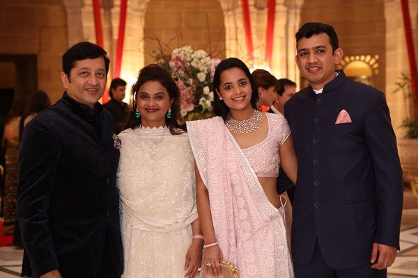 Raj and Deepti Salgaocar, Isheta Salgaocar, Neeshal Modi at the 5th anniversary celebrations of Nirav Modi in Jodhpur