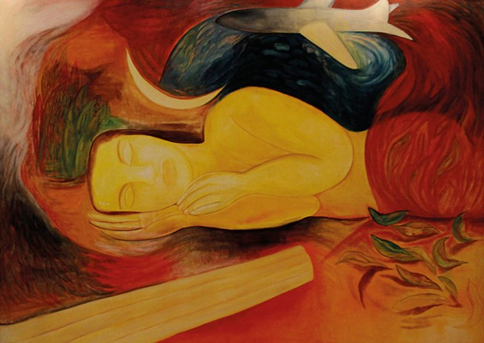 Who Dictates The Sleep of Reason, Oil on Canvas, 1991