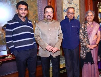 Rohan Murthy, Ashok Wadhwa, Narayana and Sudha Murthy