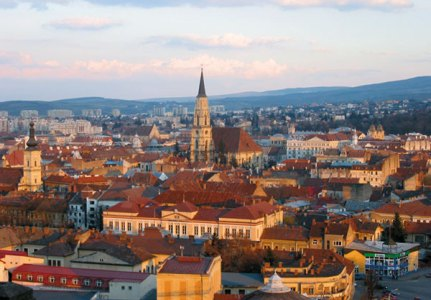 A panoramic view of Cluj Napoca