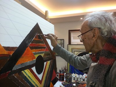 Raza painting 'Ankuran'