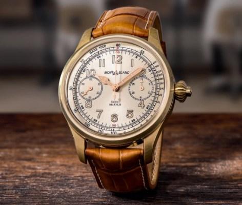 Montblanc 1858 Chronograph Tachymeter Champagne LE 100