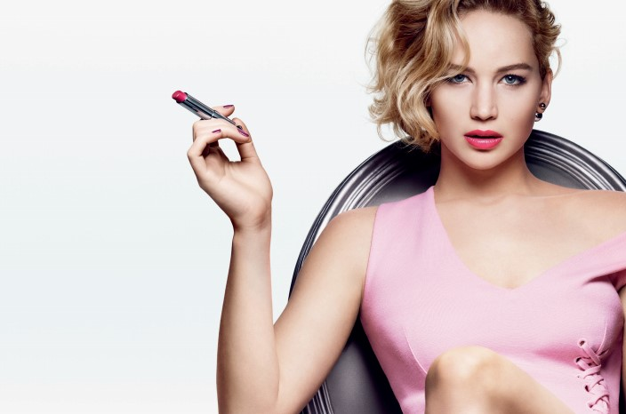 Jennifer Lawrence dior shine dont be shy dior addict lipstick 2015