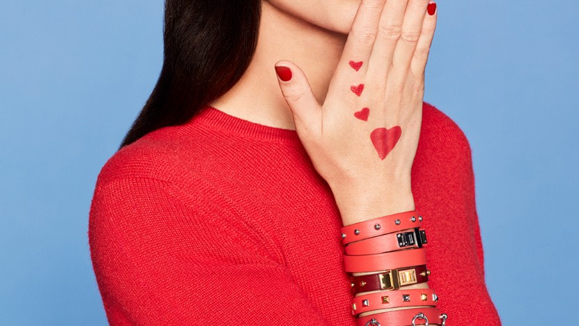 Hermèsistible campaign featuring Mini Dog bracelets