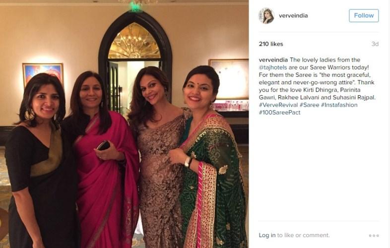 Ladies from the corporate PR team of Taj Hotels