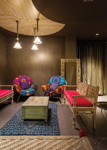 Interiors of a Private Villa in Jaipur. Designed by Shantanu Garg