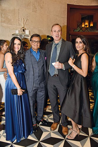 Shefali and Shishir Mehta, Chandler Burr and Ayesha Mehta