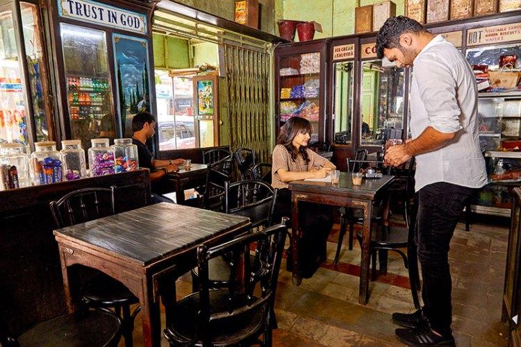 Simin Patel and Hashim Badani at Café Dela Paix