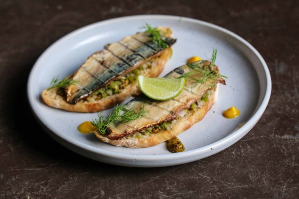 Smoked Cochin Mackerel on Toast