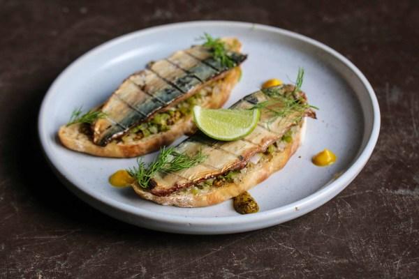 Smoked Cochin Mackerel on Toast