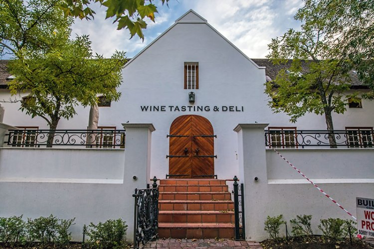 Wine cellar and deli at Lanzerac Hotel and Spa