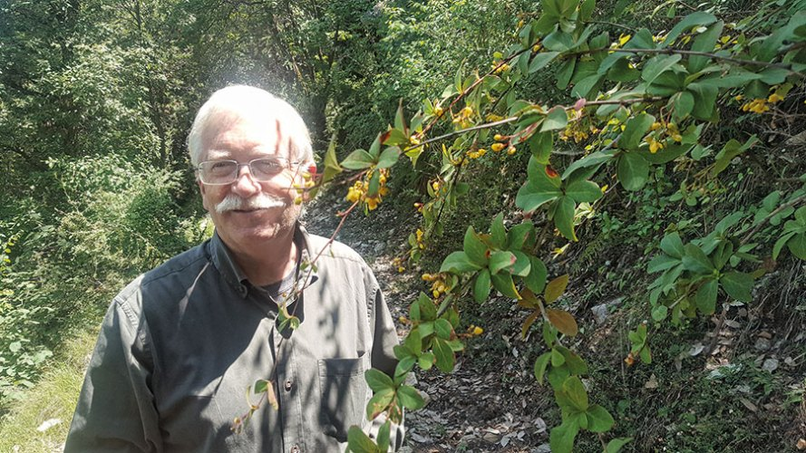 Stephen Alter at the Jaberkhet Nature Reserve