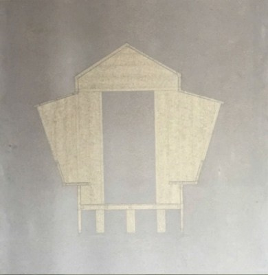 Studio Mumbai, Untitled, drawing on cement sheet