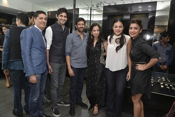 Sunil Datwani,Gaurav Kapoor,Kabir Khan, Kiran Datwani, Kirat, Pallavi Sharda at the Gehna Miraki Collection launch