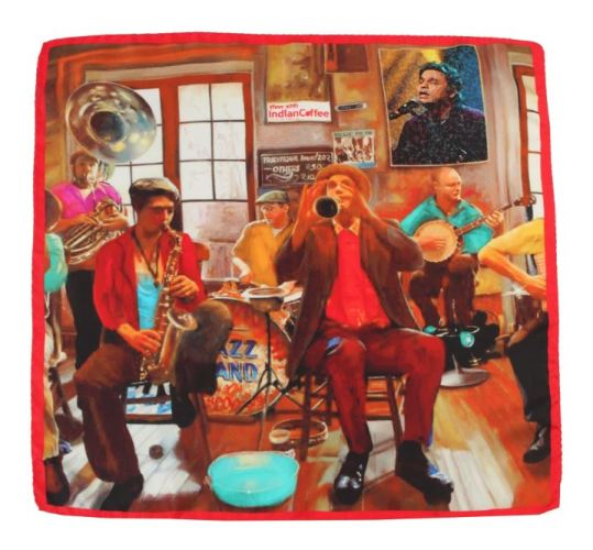 Sunil Mehra's silk pocket square