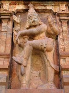 Thanjavur: imposing stone statues