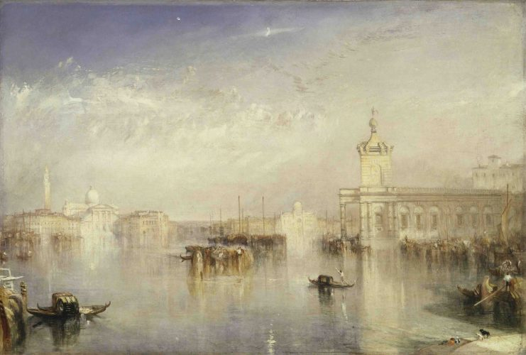 The Dogano, San Giorgio, Citella, from the Steps of the Europa 1842 by JMW Turner