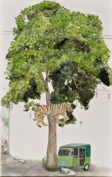 The Political Tiger Tree, Devils Tree, Blackboard Tree, detail