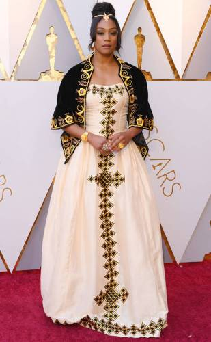 Tiffany Haddish in a traditional Eritrean gown