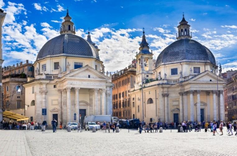 Twin churches of Santa Maria del Popolo