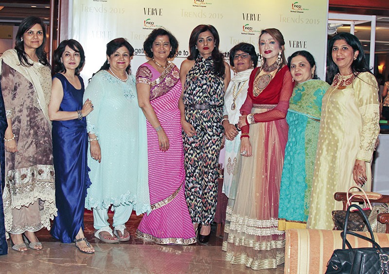Ujjwala Singhania, Vinita Bimbhet, Neelam Miglani, Neeta Boochra, Chhaya Momaya, Kiran Gera, Malti Jain, Sucheta Shah, Minali Shah, Trends 2015, an initiative of FICCI FLO
