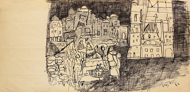 Ram Kumar's Untitled, pen and ink on paper