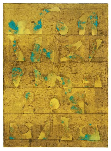 Untitled by V S Gaitonde that sold for 4.4 million dollars at the Christie's auction in December 2015