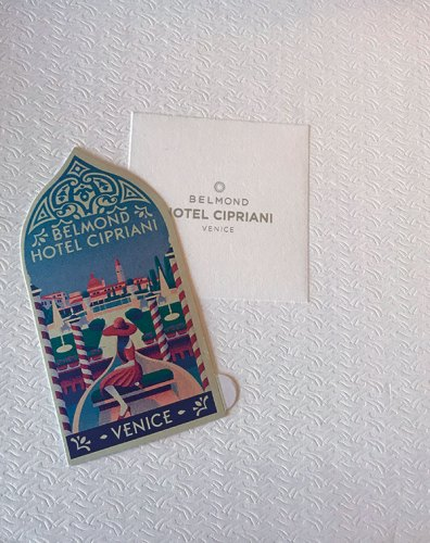Old fashioned Travel tags commemorating 60 years of the hotel