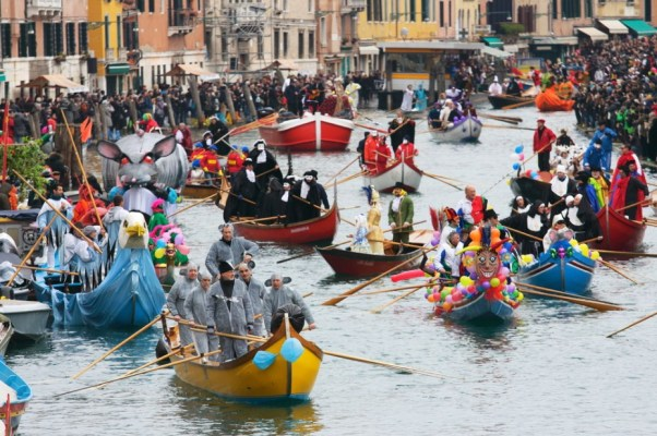 Epiphany boat race in Venice