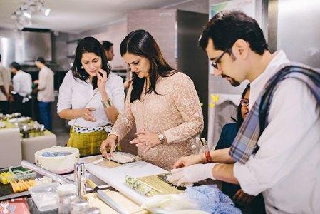 Sushi rolling: Vidushi Mehra, Mohita Indrayan