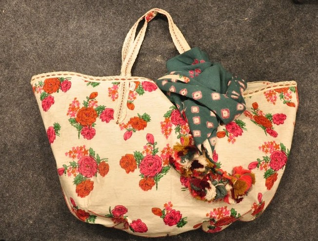 Foral cloth tote bag from Vrisa