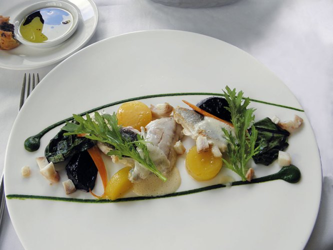 The monkfish dish at Belvedere