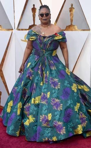 Whoopi Goldberg in Christian Siriano