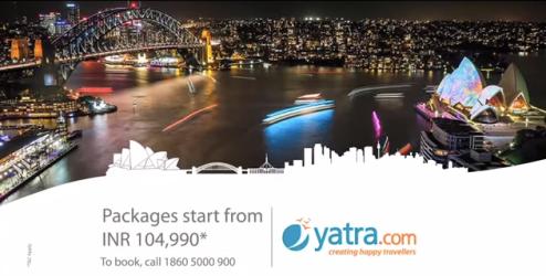 Still from the Yatra.com ad