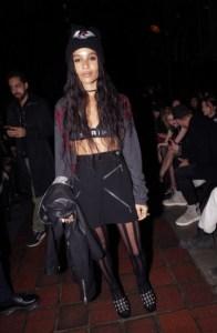 Zoe Kravitz at Alexander Wang