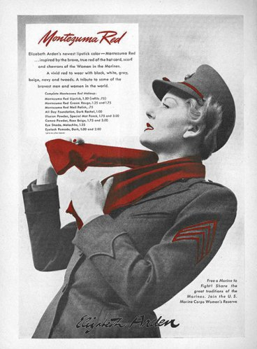 Elizabeth Arden created a bold shade to coordinate with the uniforms of the women serving in the armed forces during World War II