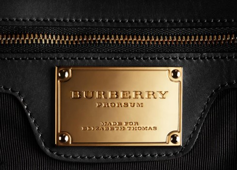 Burberry Prorsum personalised metal nameplate