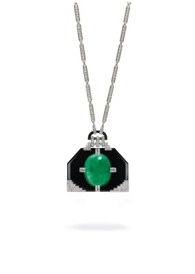 Georges Fouquet's emerald, onyx, and diamond pendant