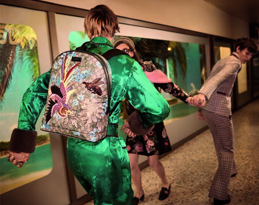 The Gucci Blooms backpack for all the globetroting this year.