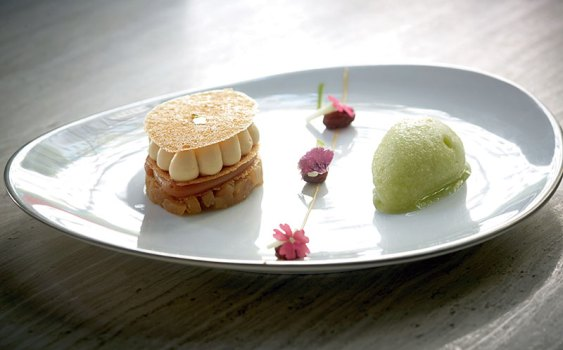 Artistically presented French cuisine