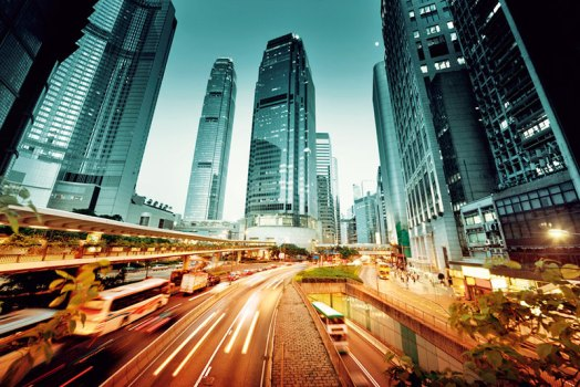A buzzing city