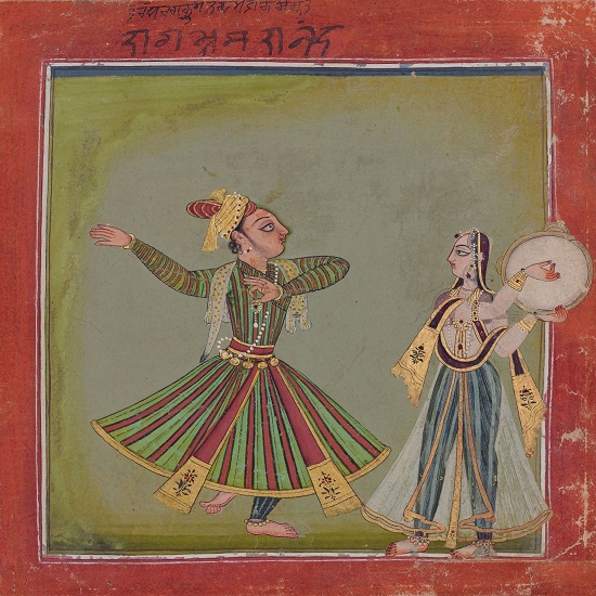 Ragaputra Bhramarananda Of Malkosa Raga, Basohli, Circa 1700