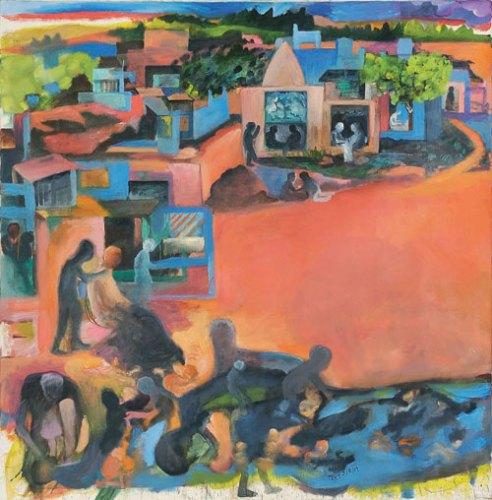 Bhupen Khakhar, Pink City,1991
