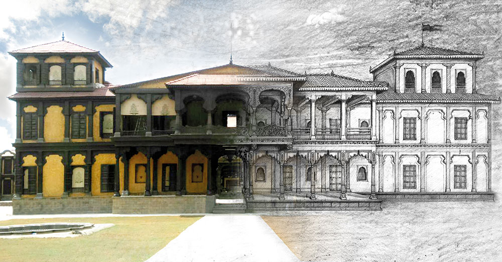 Sketch of Shaniwarwada for Bajirao Mastani, Bollywood Production, Indian Cinema