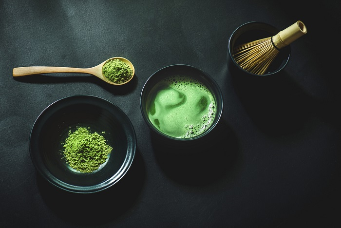 Freshly brewed matcha at Koyasan